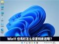 Win11任务栏如何设置完全透明?Windows11任务栏透明设置教程